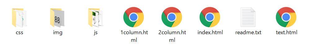 htmlテンプレートの典型的な中身