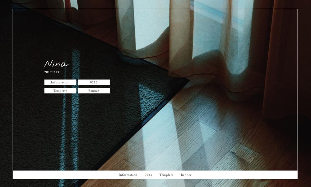 個人の同人・創作サイトに使えるテンプレートサイト