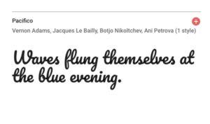 Google fontを使います