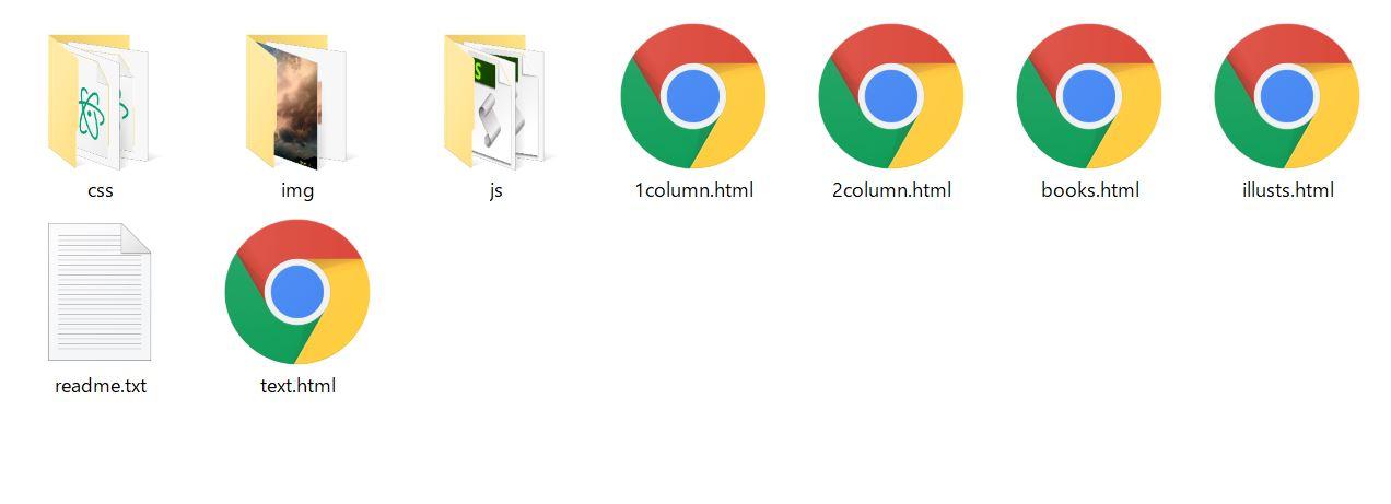 HTMLファイルのアイコンがブラウザマークになっている場合